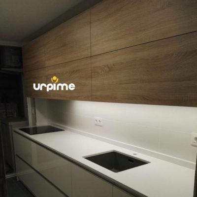 Combinacion blanco y madera